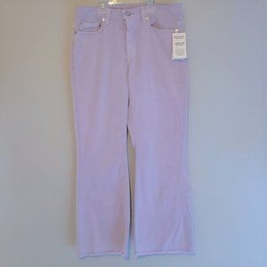 NWT! MK/Lilac/Raw Hem/Button Front/Jeans